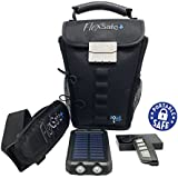 FlexSafe+ by AquaVault - The Ultimate Portable Safe - Ultra Slash Resistant, Includes Motion Alarm & Solar Charger. Tons of Features