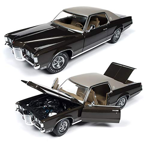 AMM1175 American Muscle 1969 Pontiac Grand Prix SJ (MCACN) 1:18 Scale Diecast Model Car in Expresso Brown