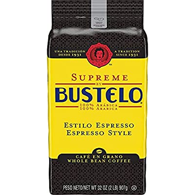 Supreme by Bustelo Whole Bean Espresso Coffee, 16 Ounce Bag from Cafe Bustelo