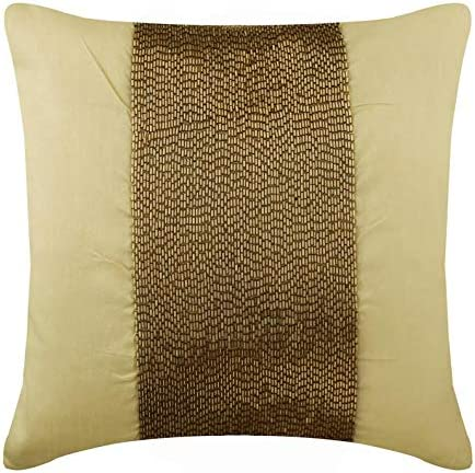 Floral Pattern Couch /& Bed Elegant Dark Brown Gold Throw Pillow Cover Luxurious Decorative Cushion Cover for Sofa