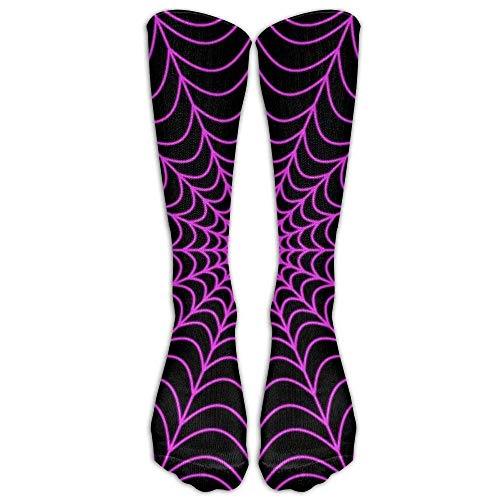 Halloween Spider Web Compression Socks Soccer Socks Knee High Socks for Running,Medical,Athletic,Edema,Diabetic,Varicose Veins,Travel,Pregnancy,Shin Splints,Nursing. 65CM