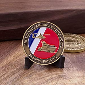 Coast Guard Challenge Coin - USCG Military Challenge coin - Coast Guard Veteran Coin - Designed by Military Veterans & Officially Licensed from Coins For Anything Inc