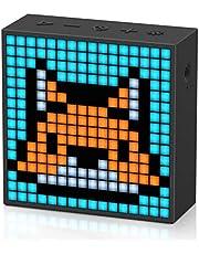 Divoom Timebox-Evo Pixel Art draagbare Bluetooth-luidspreker met programmeerbaar 256 LED-paneel, 3,9 x 1,5 x 3,9 inch (zwart)