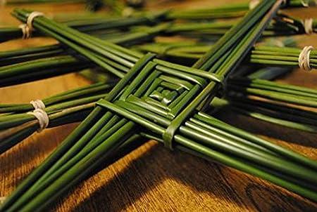 Brigid Cross - Make Your Own St Brigid Cross From Authentic Wild Irish Rushes Also Popular For Basket Weaving Supplies (40) Natural Irish Rushes