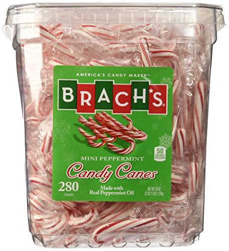 (Bobs Red & White Mini Peppermint Candy Canes, 280Count Tub, 43 oz)
