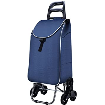 Cesta Carro Dolly Subir escaleras, Azul carrito plegable, Carrito de arrastre with6 ruedas, Rodando , A: Amazon.es: Deportes y aire libre