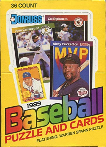 1989 Donruss Baseball Wax Box (36 Sealed Packs) Look for the Ken Griffey Jr. Rookie ()