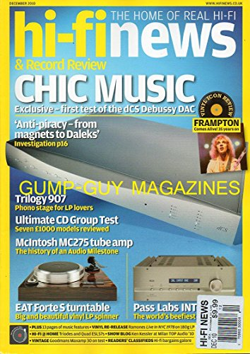 hi-fi news & Record Review UK Magazine THE HOME OF REAL HI-FI December 2010 PETER FRAMPTON COMES ALIVE 35 YEARS ON Trilogy 907 Phono Stage For LP Lovers ULTIMATE CD GROUP TEST 7 MODELS REVIEWED