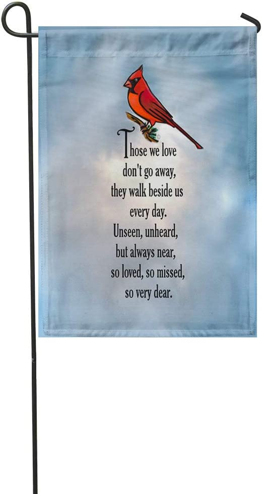Suklly Garden Flag Cardinal So Loved Poem Fun Warm Pop Art 12x18 Inch Polyester Fabric Flags Home Decorative Sign Banner Suitable for Courtyard Outdoor Lawn