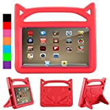 All-New F ir e HD 8 case,F ir e HD 8 kids case,F ir e HD 8 case,Jottier-(Compatible with 6th/7th and 8th Generation,2016/2017 and 2018 Releases)Kids Shock Proof Light Weight Protective Stand Case(Red)