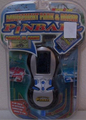 Electronic Handheld Pinball Game: Amusement Park and & Racer Pinball (WITH BONUS GAMES)