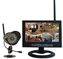 1 Camera Security System with Monitor and Internal DVR Expandable to 4 Cameras