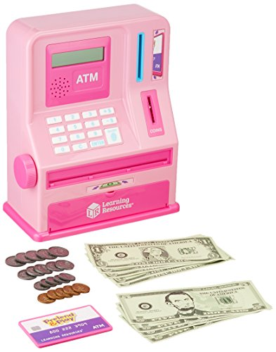 Learning Resources Teaching ATM Bank, Pink, 32 Pieces