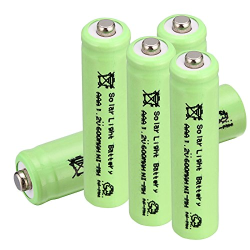 Windmax Green 5PCS 3A AAA 1.2V 600mAh Rechargeable Battery White NiMH 3A batteries for Solar Light