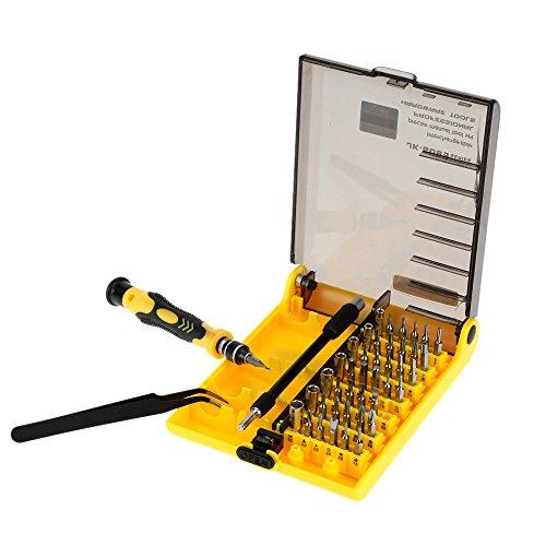 Andoer 45-in-1 Professionelle Hardware Schraubenzieher Werkzeug Schraubendreher Set für Reparatur von Handys, Festplatten und andere elektronische Produkte
