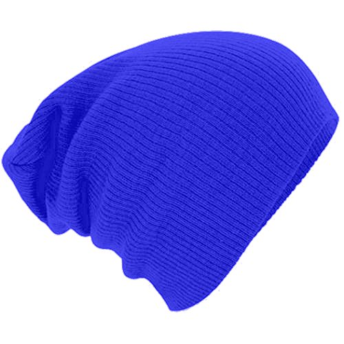 Century Star Kids Boys Girls Knit Cute Cuff Baggy Hip-hop Slouchy Hat Children Basic Beanie Royal Blue
