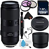 Tamron 100-400mm f/4.5-6.3 Di VC USD Lens for Nikon F AFA035N-700 (International Model) + 72mm 3 Piece Filter Kit + 128GB SDXC Class 10 Memory Card + Deluxe Cleaning Kit + Lens Cap Keeper Bundle
