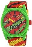 Neff Men's NF0209-rasta Custom Designed Neff and Nylon Strap Rasta Watch, Watch Central