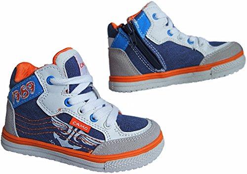 Jungen Freizeit Knöchelschuhe Turnschuhe Sneaker Schuhe gr.25-30 nr. 821 blau