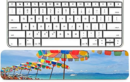 Luxlady Keyboard Wrist Rest Pad Long Extended Arm Supported Mousepad IMAGE ID: 25601597 Beach chairs and colorful umbrella on the beach in sunny day Phuket (Best Luxlady Mousepad Beach Chairs)