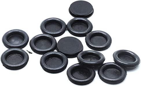 Black Vonty 20-Pieces Rubber Grommet Wire Protector Electrical Gasket 30mm Mounting Dia