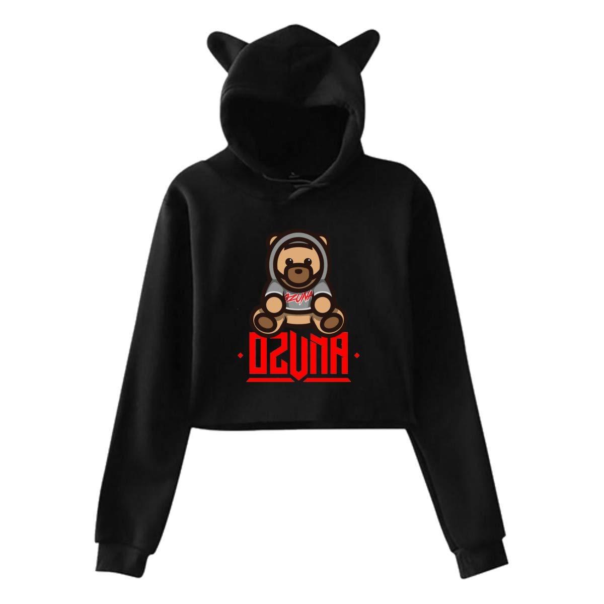 Female Print with Ozuna Logo Novelty Cat Ear Hooded Sweatshirts