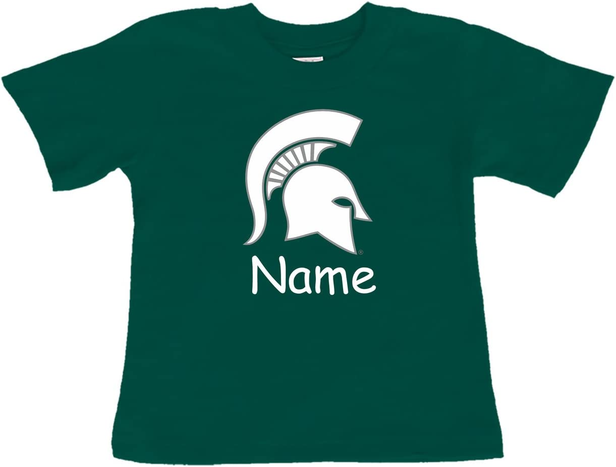 Future Tailgater Michigan State Spartans Personalized Color Baby/Toddler T-Shirt