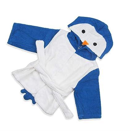 BABYBEASS Diseño de pingüino Recién Nacido Bebé con Capucha Albornoz ...