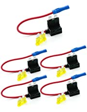 Qiorange Car Circuit Fuse Tap Piggy Back Standard Blade Ato Atc Fuse Holder Box 12V 24V Park of 5