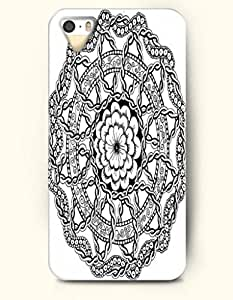 SevenArc Apple iPhone 4 4S Case Moroccan Pattern ( Black and White Floral Doodle )
