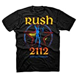 Rush 2112 40th Anniversary Starman Logo Adult T-shirt