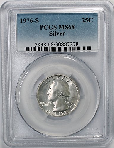 1976 S Bicentennial Washington Silver Quarter 25c MS68 PCGS