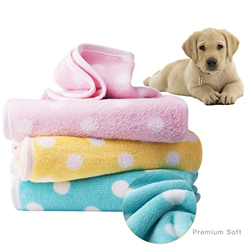 Loki Loki Dog Blanket Cat Blanket Puppy Blanket Premium Fleece Plush Pet Blankets for Cats Puppies at Home, Bed, Crate, Couch & Car - 3 Pack