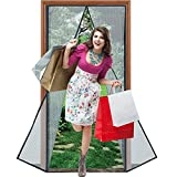 "Magnetic Screen Door 39""x 83"" with Heavy Duty Reinforced Mesh Curtain and Full Frame Velcro, Fits Door Size up to 36''X82'' Max- Black"