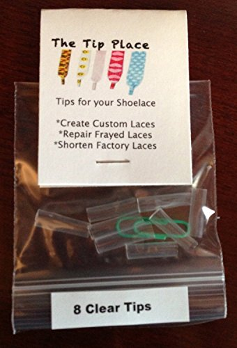 (Shoelace Tip Kit - Aglet Repair Replace or Custom - Plastic Lace Ends Original From the TIP Place )