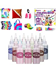 Anpro Tie-dye kit, 148 tie-dye DIY kits, 100ml/bottle(High capacity), 16 kinds of bright tie-dye textile dyes, tie-dye art kits suitable for children and adults, suitable for family and friends party supplies, and also suitable as gifts for children and children And adult handicrafts