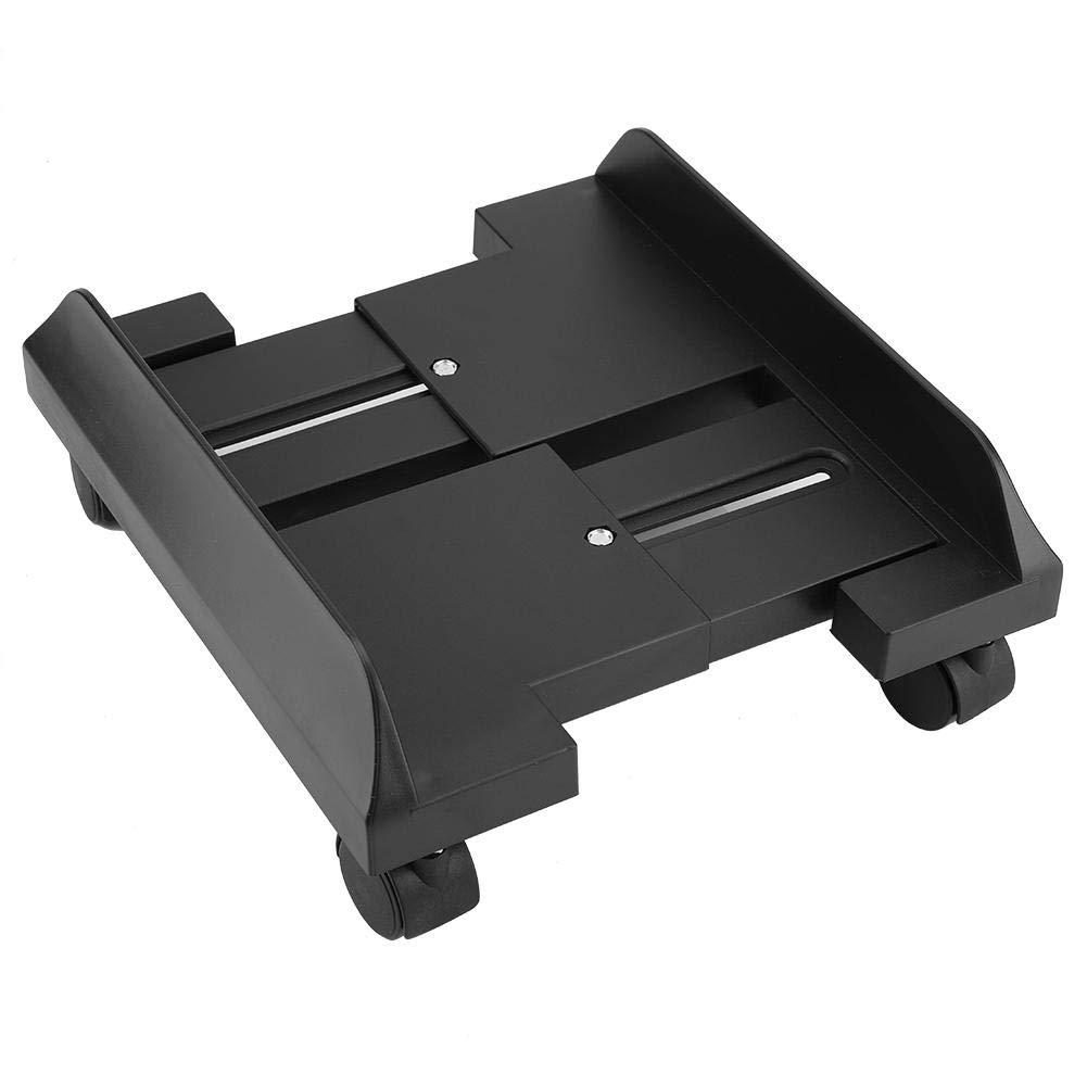 Grey Supporto per Monitor Regolabile Removibile Mensola Supporto per Stand Staffa Desktop Mainframe Storage Rack Carrello Porta PC Portacase con Freno
