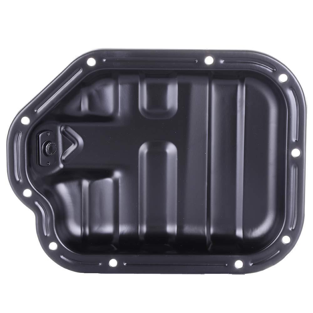 TUPARTS Engine Oil Pan for Infiniti FX35 G35 M35 350Z 03 04 05 06 07 08 with Engine Oil Drain Pan 3.5L with OE 264-531 Oil Drip Pan Oil Change Pan
