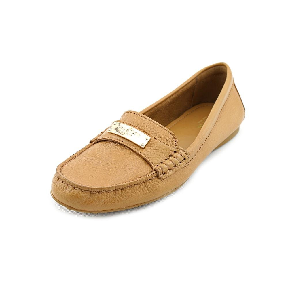 Coach Womens Fredrica Pebbled Leather Loafer,Ginger,9 M US