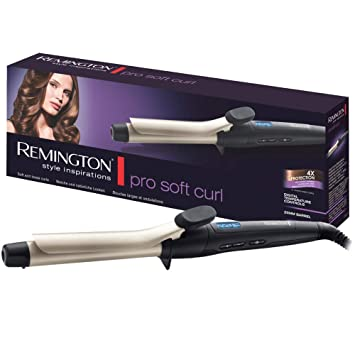 Remington Pro Soft Curl Ci6325 - Rizador de pelo, Pinza de 25 mm, Cerámica, Turmalina, Antiestático, Iónico, Negro