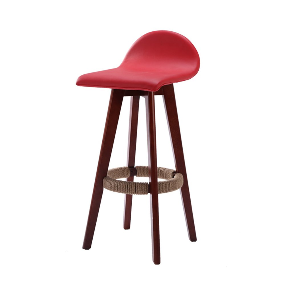 美しい 家ソリッドウッドバーチェア/フロントファッションバースツール/ハイチェアヨーロピアンバーチェア/シンプルハイスツール -スツール ( 色 : 赤 ) B07BNFYW9J赤