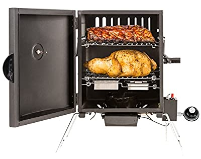 Masterbuilt MB20050116 MPS 20B Patio-2-Portable Propane Smoker, Black from Masterbuilt Manufacturing, LLC