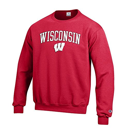 Elite Fan Shop Wisconsin Badgers Crewneck Sweatshirt Varsity Cardinal - ()