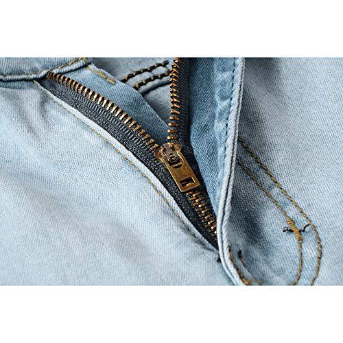 Vieilli Jean Rétro Homme Déchiré Style Pour Déchiqueté Skinny Kinlene Sexy Denim Motard Streetwear Trousers Jeans Vintage Bleu Hiphop Cargo Slim Effet Hommes Coupe w5Yq8dxd