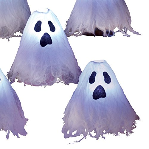 LED Lighted Halloween Ghosts White