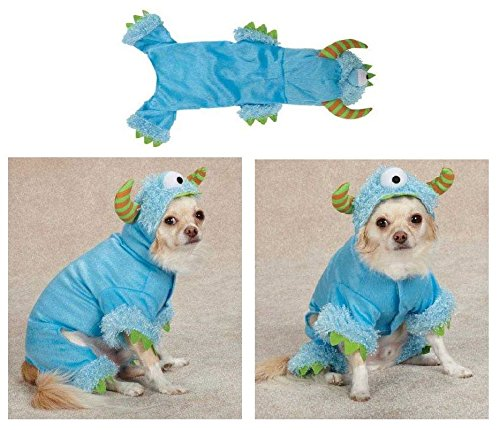 [Dog Costume Blue Monster Paws Scary Halloween XLARGE - CLOSEOUT] (Closeout Costumes)