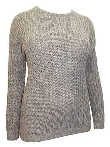 Holidaysuitcase-Dames taupe toucher doux hiver pull grande taille 20-30 UK