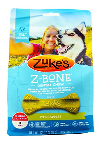 - Zuke`s Z-Bone Regular Apple 8 Count, 12oz (340g)