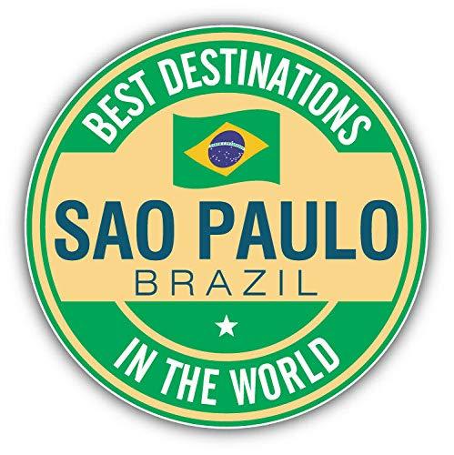 Magnet Sao Paulo Brazil Best Destinations Label Vinyl Magnet Bumper Sticker Magnet Flexible Vinyl Magnetic 5
