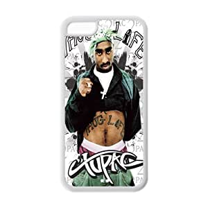 2Pac Makaveli Solid Rubber Customized Cover Case for iphone 4s 4s-linda612